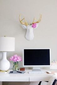 We're big fans of the all-white office space. Nothing says fresh like a clean desk.