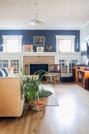 Consider painting your mantle wall an accent color.