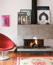 Turn your mantle into an art gallery.